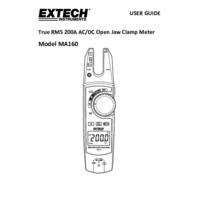 Extech MA160 Clamp Meter - User Manual