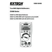 Extech EX365 Digital Multimeter - User Manual