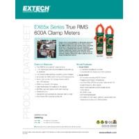 Extech EX655 Clamp Meter - Datasheet