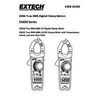 Extech EX655 Clamp Meter - User Manual