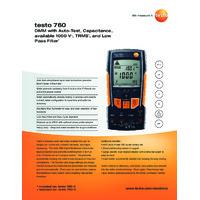 Testo 760-1 Digital Multimeter - Datasheet
