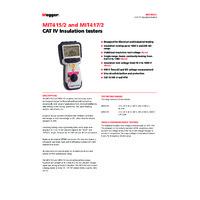 Megger MIT417-2 Insulation Tester - Datasheet