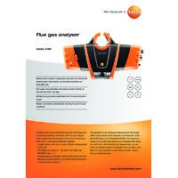 Testo 330i Flue Gas Analyser - Datasheet