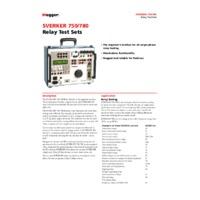 Megger SVERKER780 Single Phase Relay Test Set - Datasheet