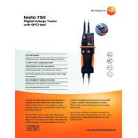 Testo 750-3 Voltage Tester - Datasheet