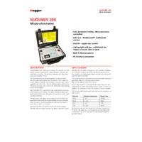Megger MJOLNER200 Micro-Ohmmeter - Datasheet