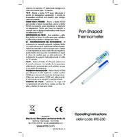 ETI 810-260 Pen-Shaped Pocket Thermometer - Instruction Manual