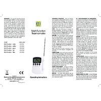 ETI Multifunctional Thermometer - Instructions