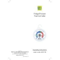 ETI 800-100 Fridge and Freezer Thermometer - Instructions