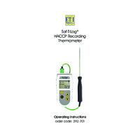 ETI Saf-T-Log Datalogging Food Thermometer - User Manual