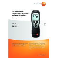 Testo 315-4 Carbon Monoxide Meter - Datasheet