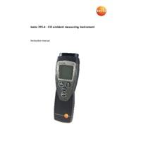 Testo 315-4 Carbon Monoxide Meter - User Manual