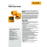 Fluke 3PR and 3PG Laser Levels - Datasheet