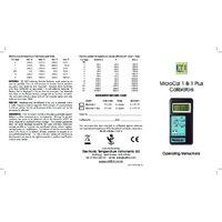ETI MicroCal 1 Calibrator - User Manual