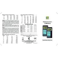 ETI MicroCal 3 Temperature Simulator and Calibrator - User Manual