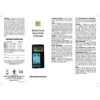 ETI MicroCheck 3 Point Temperature Calibrator - User Manual