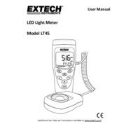 Extech LT45 LED Light Meter - User Manual