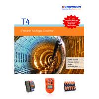 Crowcon T4 Personal Gas Detector - Datasheet