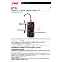 KIMO DF110 Refrigerant Detector - User Manual