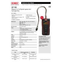 KIMO DF110 Refrigerant Detector - Datasheet