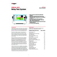 Megger FREJA 543 Relay Test System - Datasheet