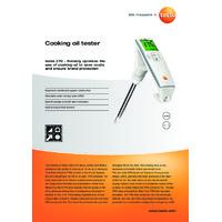 Testo 270 Cooking Oil Tester - Datasheet