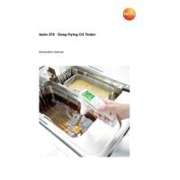 Testo 270 Cooking Oil Tester - User Manual