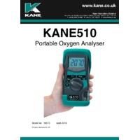 Kane 510 Portable Oxygen Analyser - User Manual