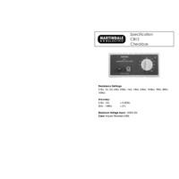 Martindale CB12 Checkbox - Datasheet