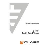 Seaward Clare B433R Earth Ground Bond Tester - User Manual