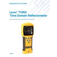 Radiodetection Lexxi T1660 Time Domain Reflectometer - Datasheet