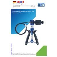 Sika P40.2 Pressure Pump - User Manual