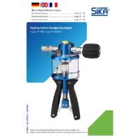 Sika P1000.2 Pressure Pump - User Manual