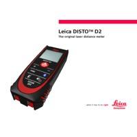 Leica Disto D2BT Laser Distance Meter - User Manual