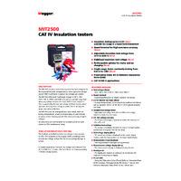 Megger MIT2500 Insulation Tester - Datasheet