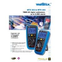 Chauvin Arnoux MTX203 Digital Multimeter - Datasheet