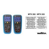 Chauvin Arnoux MTX203 Digital Multimeter - User Manual