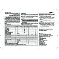 UNI-T UT07A Socket Tester - User Manual