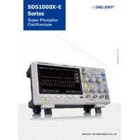 Siglent SDS1202X-E Super Phosphor Oscilloscope - Datasheet