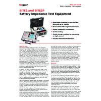 Megger BITE2P Battery Impedance Tester - Datasheet