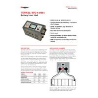 Megger TORKEL 910 Battery Load Unit Tester - Datasheet