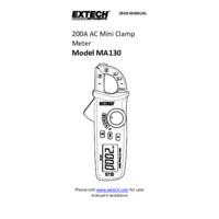 Extech MA130 Clamp Meter - User Manual