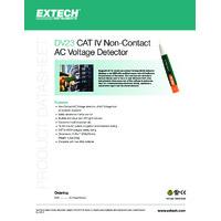Extech DV23 AC Voltage Detector - Datasheet