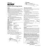 Extech DV23 AC Voltage Detector - User Manual