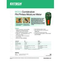 Extech MO55 Moisture Meter - Datasheet