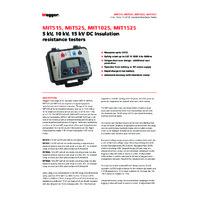 Megger MIT1525-UK High Voltage DC Insulation Resistance Tester - Datasheet
