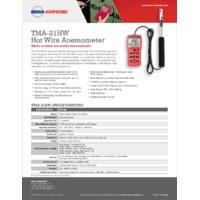 Amprobe TMA-21HW Hot Wire Anemometer - Datasheet