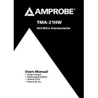Amprobe TMA-21W Hot Wire Anemometer - User Manual