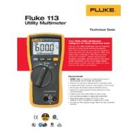 Fluke 113 Utility Digital Multimeter - Datasheet