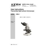 Kern OBS Microscope - User Manual